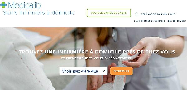 Capture d'écran de la page d'accueil de Medicalib